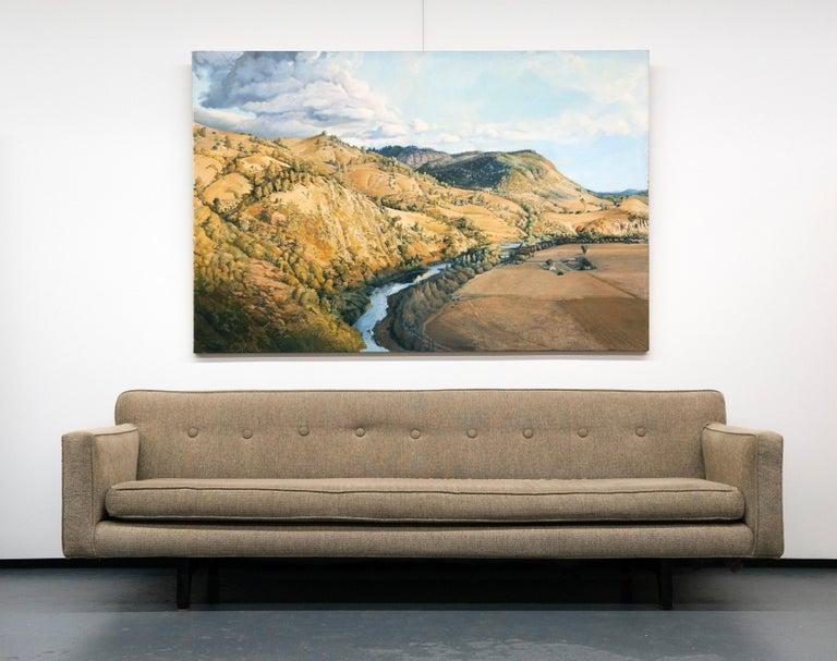 Classic Modern Long Dunbar Sofa with Brackets by Edward Wormley For Sale 3