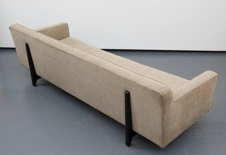 Classic Modern Long Dunbar Sofa with Brackets by Edward Wormley For Sale 2
