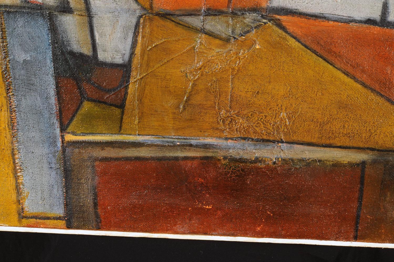 Latin American Cubist Modern Painting By Luis H Padilla