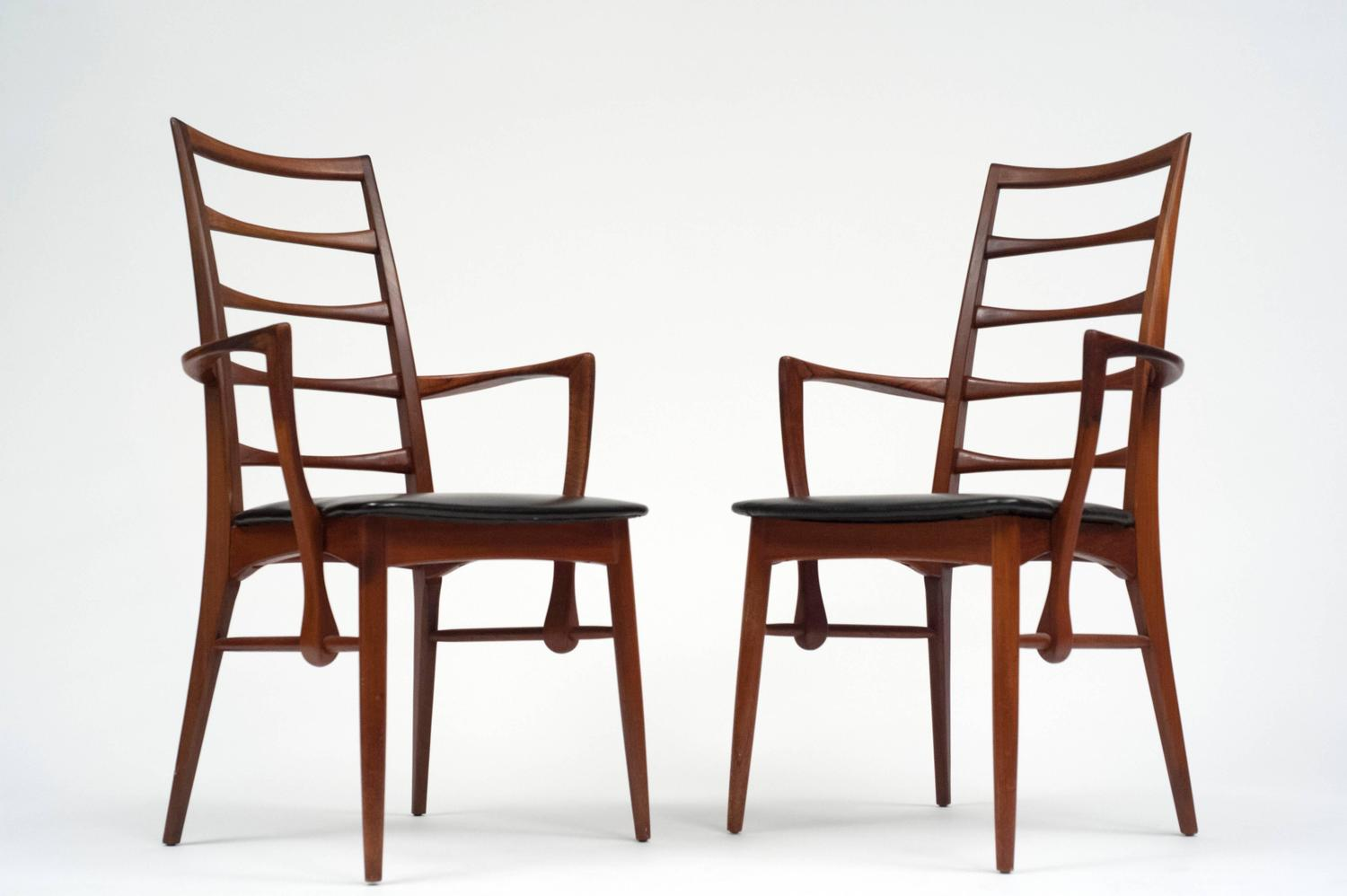 set of eight danish ladder back dining chairs by niels kofoed at