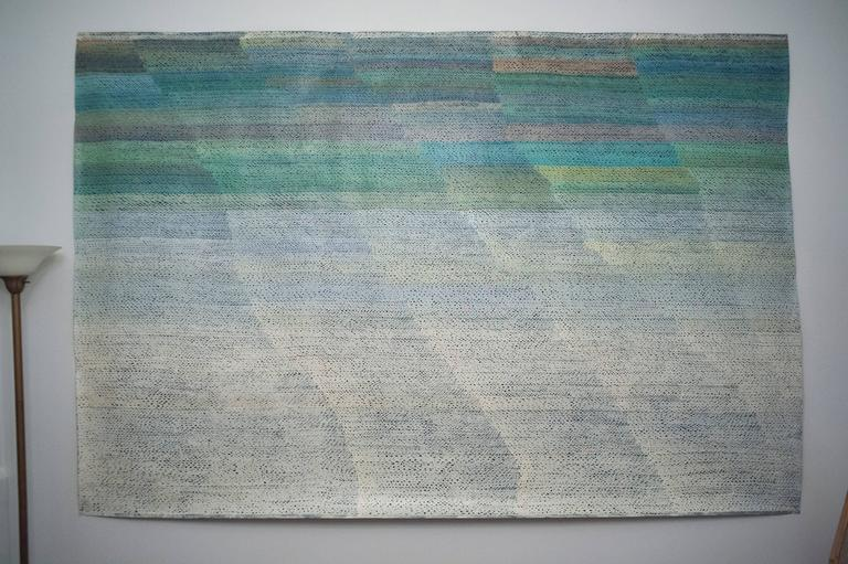 Monumental Christian Gardair Color Field Painting French, 1983 For Sale 3