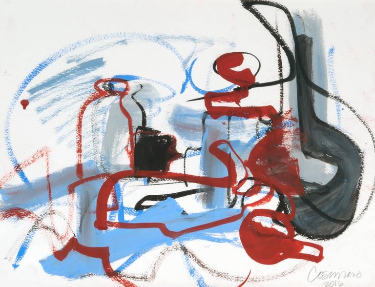 American Jeanne Cosimano Abstract Modern Work on Paper For Sale