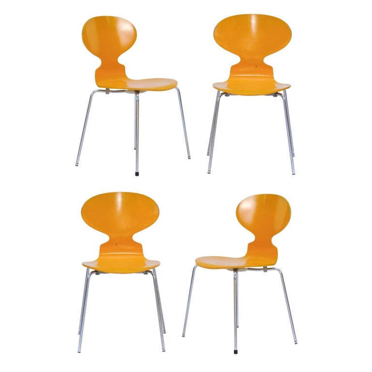 A set of four signed Arne Jacobsen