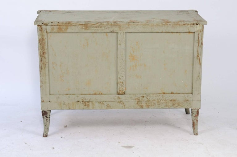 art nouveau style french painted three drawer commode with swan motifs for sale at 1stdibs. Black Bedroom Furniture Sets. Home Design Ideas