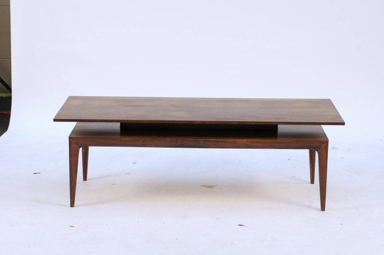 Scandinavian 1960s rosewood tiered coffee table with for Buy coffee table legs