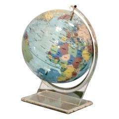 Vintage Trippensee Planetarium Acrylic Spectrum Globe on Stand