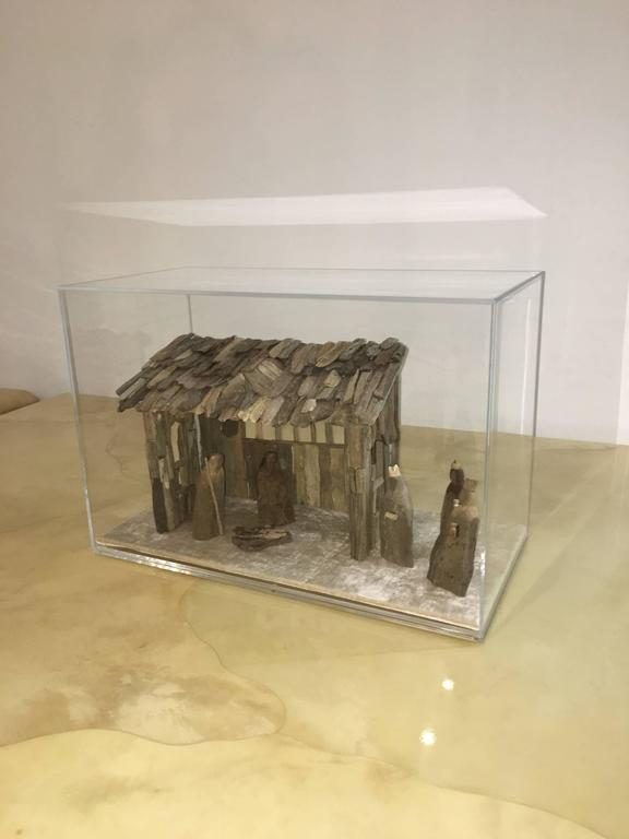 Organic Modern Nativity Scene in Driftwood and Lucite Object D'art by AMK for Patricia Kagan For Sale