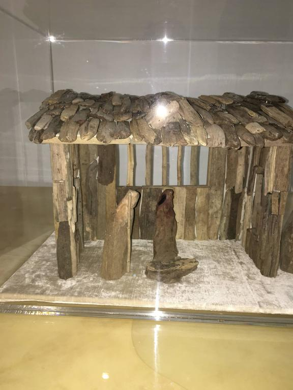 Contemporary Nativity Scene in Driftwood and Lucite Object D'art by AMK for Patricia Kagan For Sale