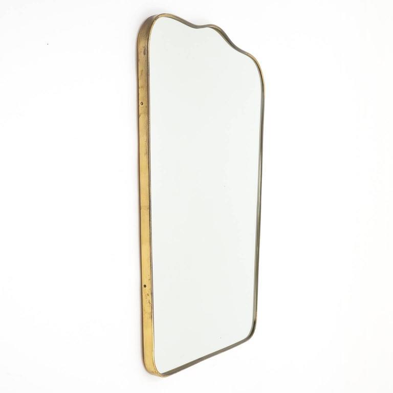 Italian 1950s Brass Mirror 2