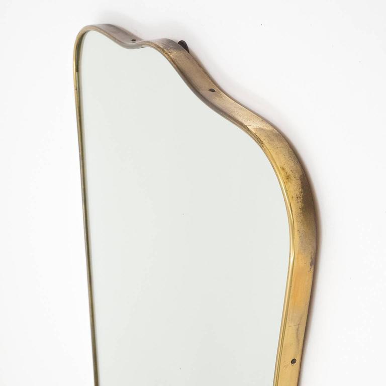 Italian 1950s Brass Mirror In Good Condition In Vienna, AT