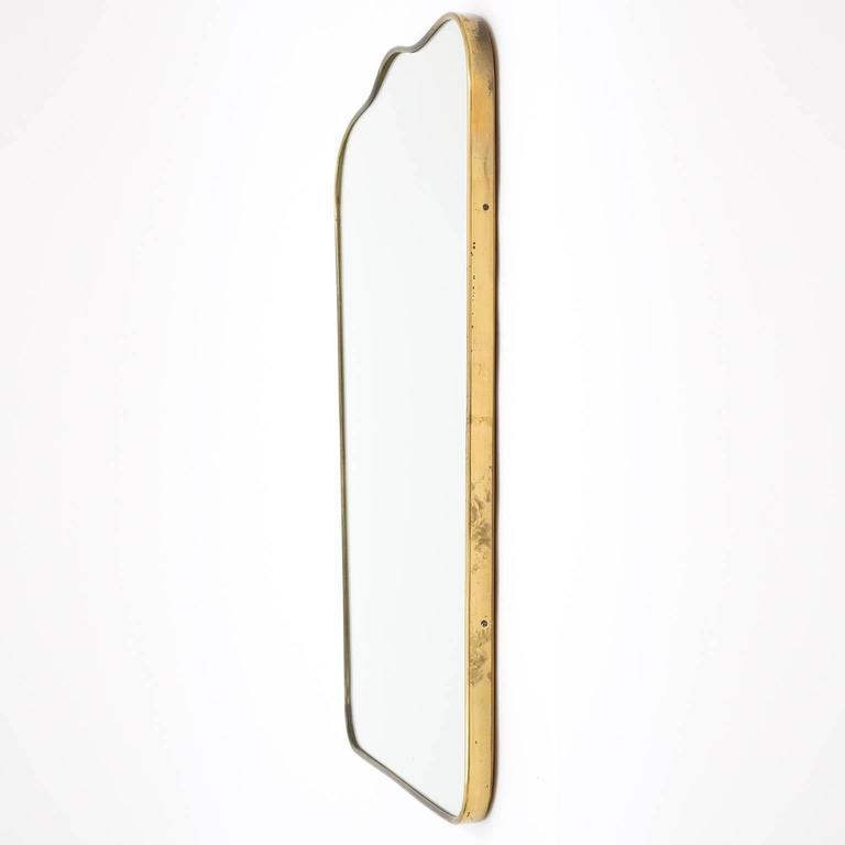 Mid-Century Modern Italian 1950s Brass Mirror