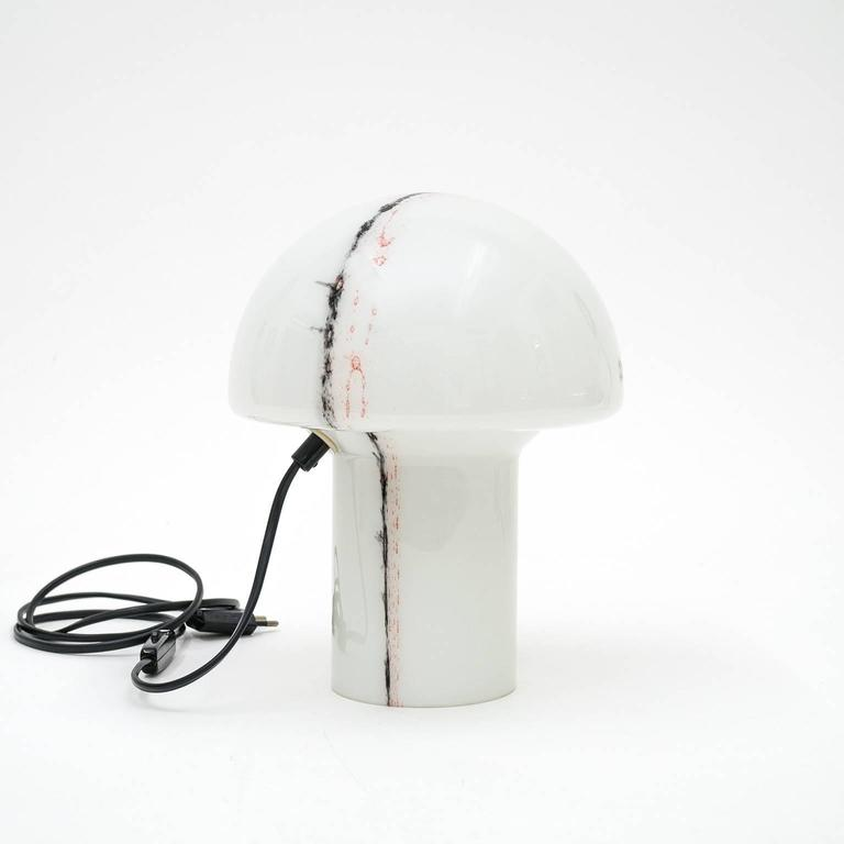 1970s Glass Mushroom Table Lamps by Peill & Putzler In Excellent Condition For Sale In Vienna, AT
