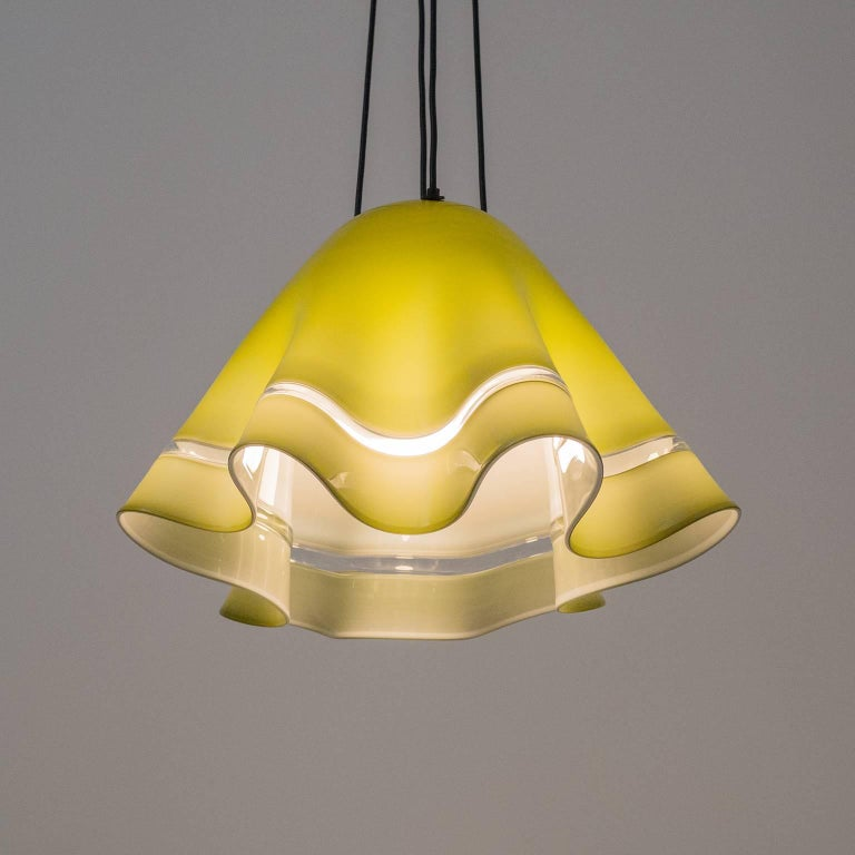 Large Vistosi 'Fazoletto' Pendant, 1960s For Sale 5