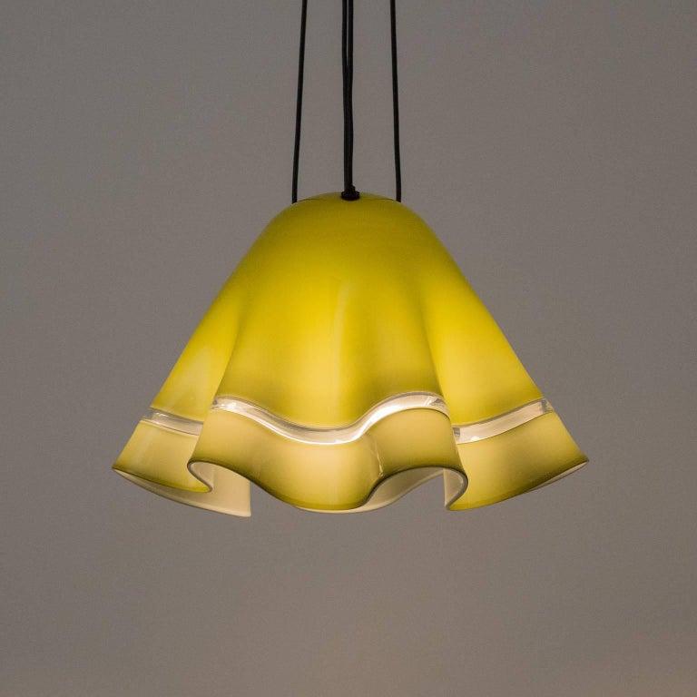 Large Vistosi 'Fazoletto' Pendant, 1960s For Sale 6