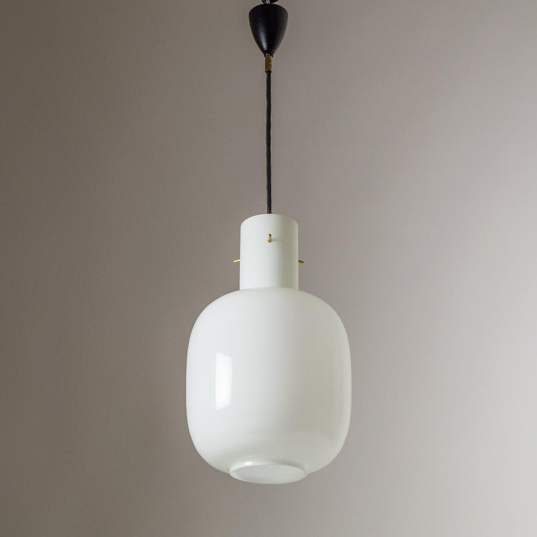 Italian Glas Pendant, 1950s For Sale 6