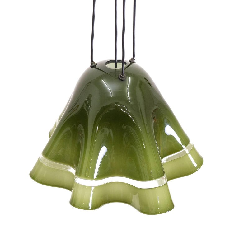 Large Vistosi 'Fazoletto' Pendant, 1960s For Sale 1