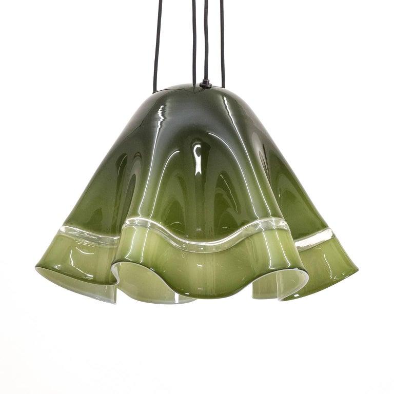 Large Vistosi 'Fazoletto' Pendant, 1960s For Sale 2