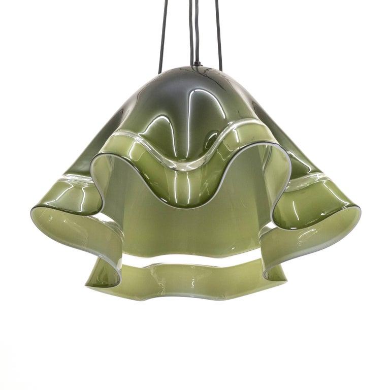 Large Vistosi 'Fazoletto' Pendant, 1960s For Sale 4