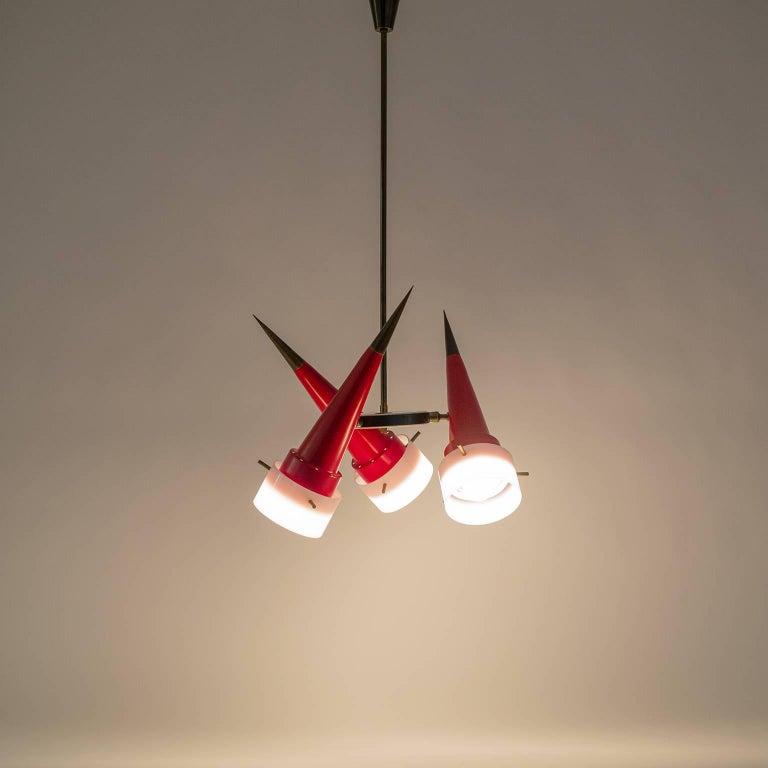 Modernist Italian Sputnik Chandelier, circa 1955 For Sale 3