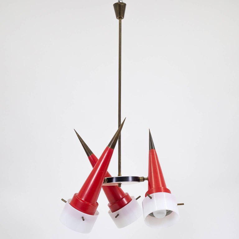 Modernist Italian Sputnik Chandelier, circa 1955 For Sale 1