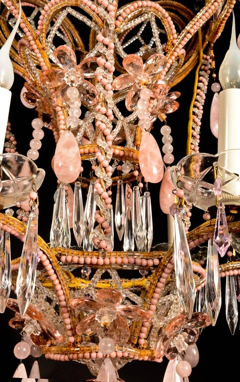 Superb antique french bagus style pink rock crystal and crystal louis xvi superb antique french bagus style pink rock crystal and crystal chandelier for sale aloadofball Choice Image
