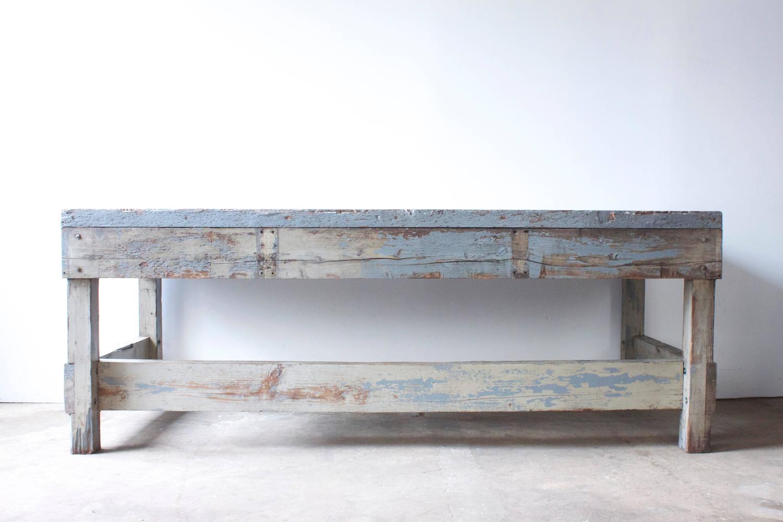solid wood work table for sale at 1stdibs. Black Bedroom Furniture Sets. Home Design Ideas