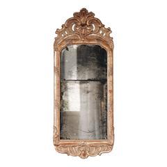 18th Century Swedish Rococo Giltwood Mirror