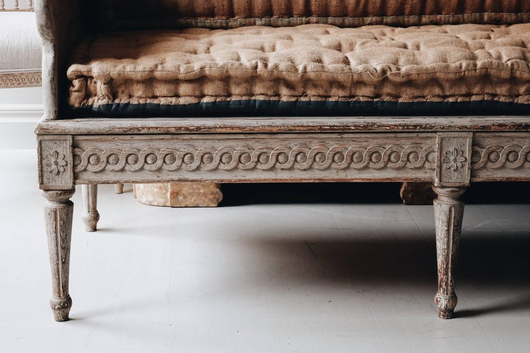 Wood 18th Century Gustavian Sofa For Sale