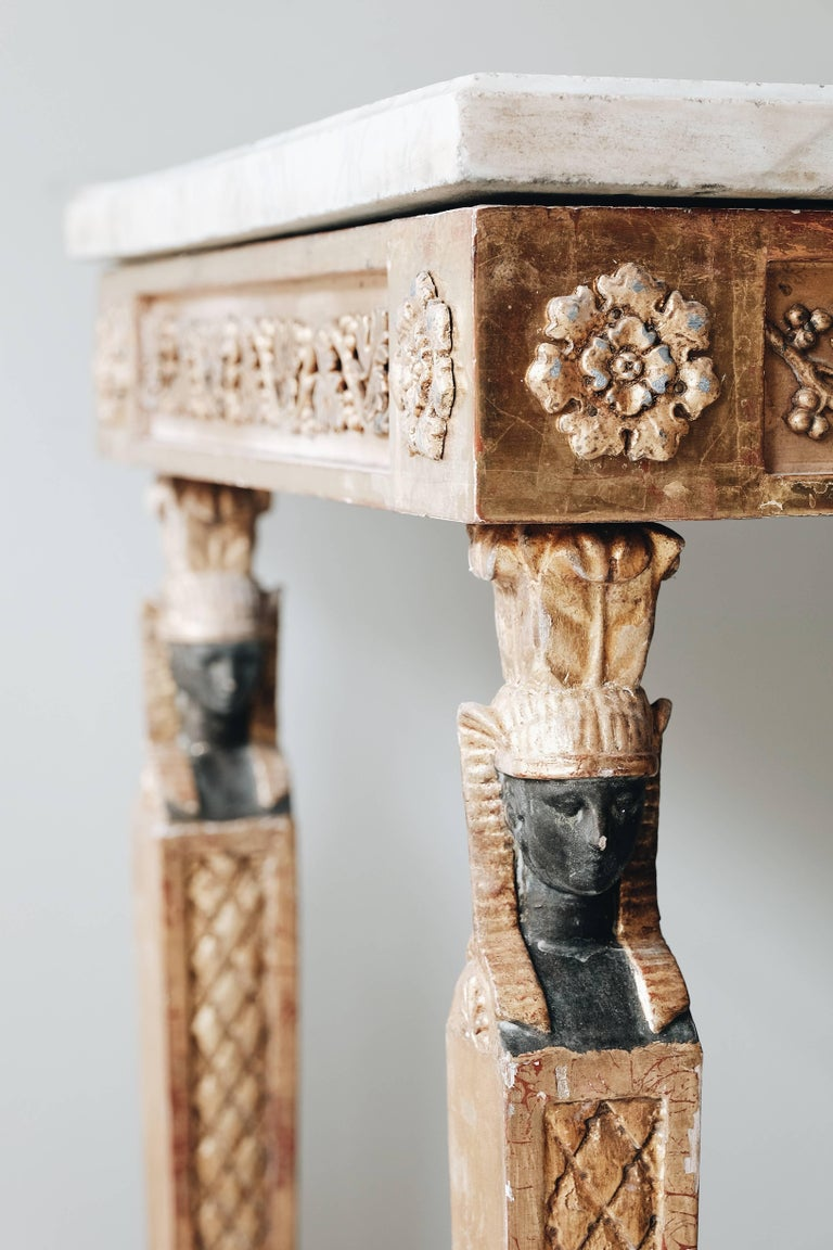 19th Century Late Gustavian Console Table 3