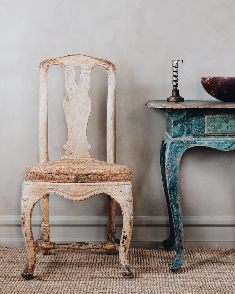 Hand-Carved Pair of 18th Century Rococo Chairs.  For Sale
