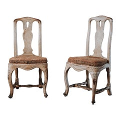 Pair of 18th Century Rococo Chairs.