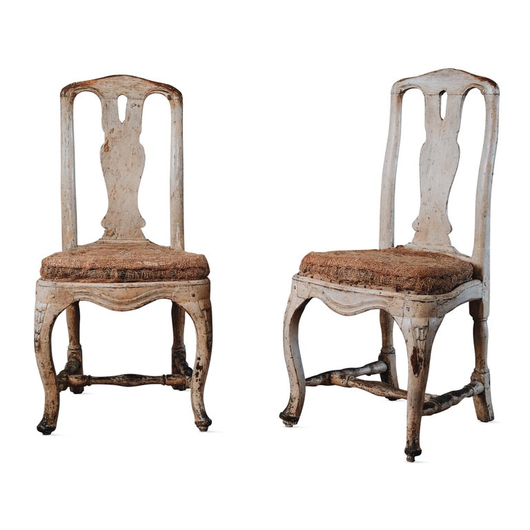 Pair of 18th Century Rococo Chairs.  For Sale