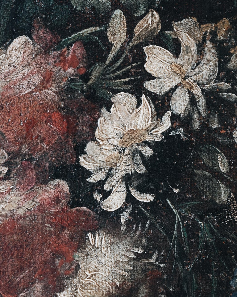 Baroque Pair of 18th Century Floral Still Life Paintings For Sale