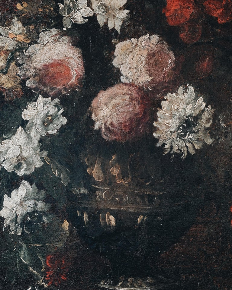 Pair of 18th Century Floral Still Life Paintings For Sale 1