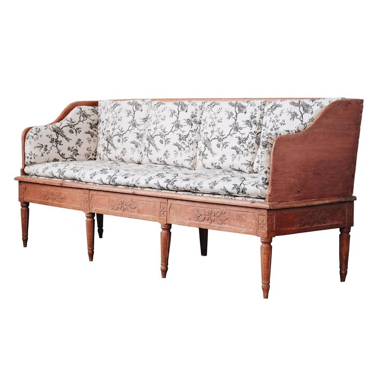 Swedish 19th Century Gustavian Trag Sofa For Sale