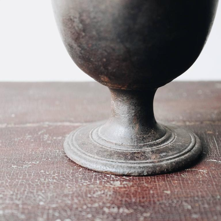18th Century Swedish Cast Iron Mortar For Sale 1