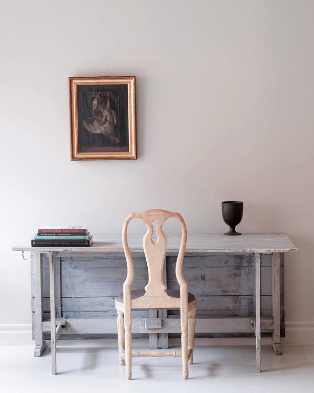 18th Century Gustavian Drop-Leaf Table In Good Condition For Sale In Helsingborg, SE