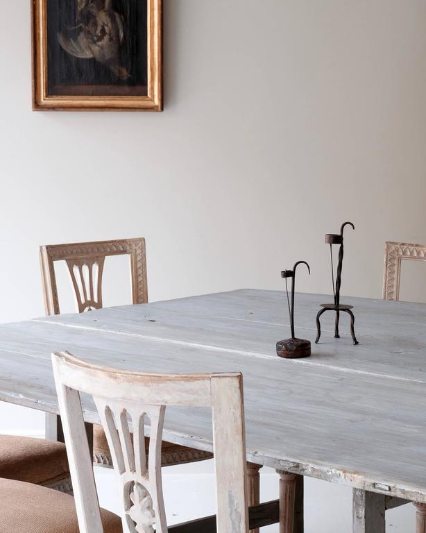 18th Century and Earlier 18th Century Gustavian Drop-Leaf Table For Sale