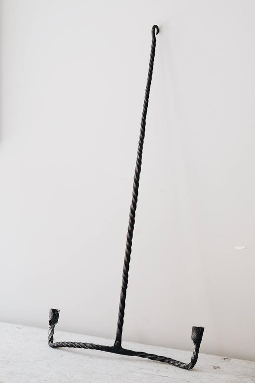 18th Century Swedish Wrought Iron Chandelier 5