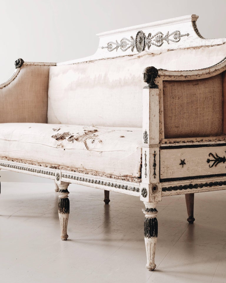 Swedish 19th Century Gustavian Sofa For Sale