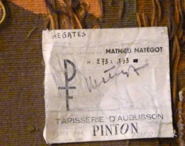 Modern Aubusson Tapestry by Mathieu Matégot -1962  4