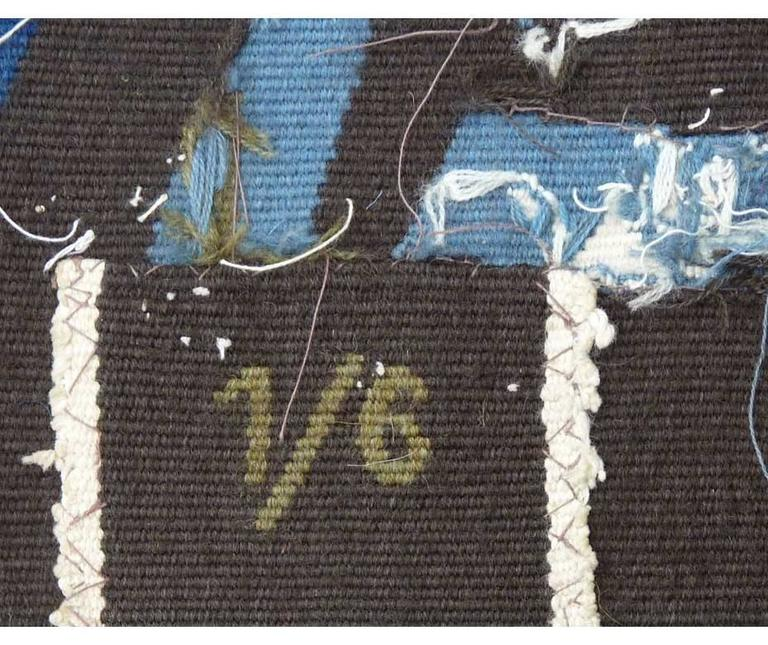 French Modern Aubusson Tapestry by Mathieu Matégot -1962  For Sale