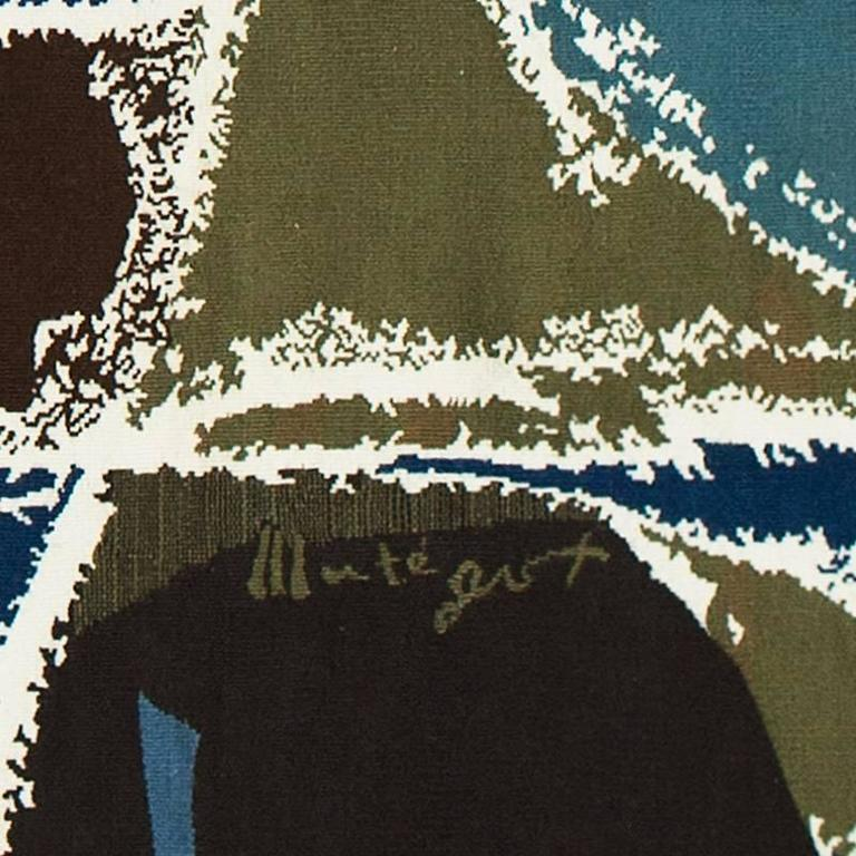 """Mathieu Matégot """"Regates."""" Dimensions: 273 x 193. Aubusson tapestry wool, handwoven. Signed and numbered. 1962.  Mathieu Matégot (1910–2001). Mathieu Matégot is a designer and artist of Hungarian origin. After the School of Fine"""