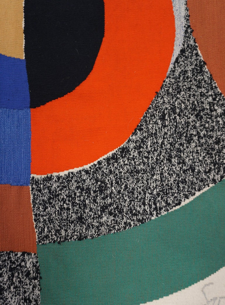 Sonia Delaunay, Hippocampe, Unique Signed Tapestry 2