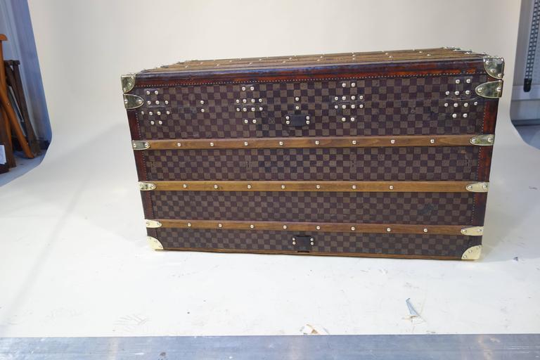 1889 Louis Vuitton Steamer Damier Trunk, Special Year 9