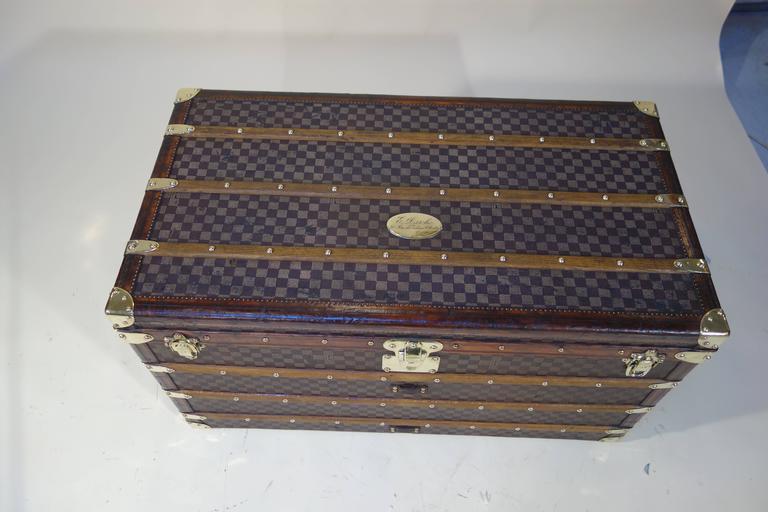 1889 Louis Vuitton Steamer Damier Trunk, Special Year 3