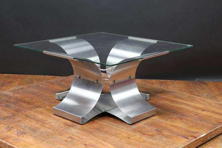French Mid-Century Coffee Table by Francois Monnet for Kappa, 1970s For Sale