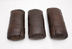 Brown Leather Pillows by De Sede 1970s Switzerland