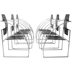Armchairs by Mario Botta Italy 1985, Set of Six