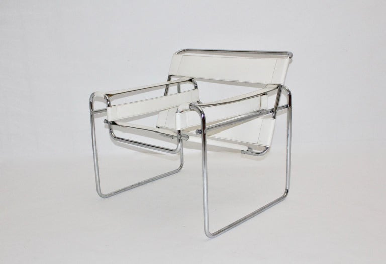 This lounge chair model Wassili B 3 was designed by Marcel Breuer 1925-1927 and executed circa 1970, Italy.